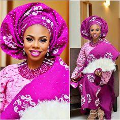 Stunning. Traditional beauty @pinkperfectionn. #africansweetheartweddings #traditionalwedding #nigerianwedding #MoDre15