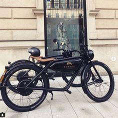 MEIJS Motorman - the electric moped from Maastricht Custom Moped, Custom Bikes, Retro Motorcycle, Motorcycle Bike, Electric Cargo Bike, Bicycle Engine, Yamaha Cafe Racer, Motorised Bike, Velo Vintage