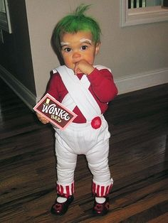 Oompa Loompa costume! Cute for Halloween!
