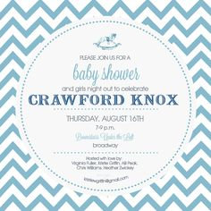 chevron baby invitation design