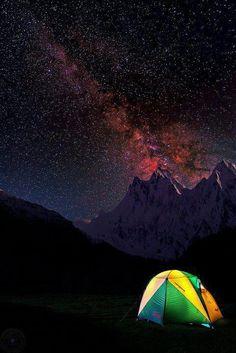 A magical night over Nanga Parbat, The ninth highest peak in the world.