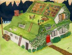 Utilizing all roof space for different gardening or grazing projects.  I don't know if this is practical, but it sure is fun.