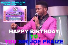 Happy birthday to one of Nigeria's leading gospel music minster Joe Praize.He is a Nigerian gospel singer,he has been nominated and won multiple awards at national and international levels. He featured with two time Grammy award winners, The Soweto Gospel Choir and many more.   #Joe Praize