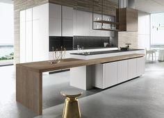 Luxury Kitchen 30 Awesome Black And White Wood Kitchen Design Ideas White Wood Kitchens, Wooden Kitchen, New Kitchen, Kitchen Decor, Kitchen Ideas, Kitchen Corner, Kitchen Pantry, Rustic Kitchen, Timber Kitchen