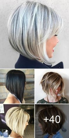 Stacked Bob Haircut Ideas To Try Right Now ❤️ If you are looking for various. - - Stacked Bob Haircut Ideas To Try Right Now ❤️ If you are looking for various ways to wear a stacked bob hairstyle, we have some excellent options for . Stacked Bob Hairstyles, Medium Bob Hairstyles, Long Bob Haircuts, Haircuts For Fine Hair, Hairstyles Haircuts, Short Stacked Bob Haircuts, Short Bobs, Popular Short Hairstyles, Haircut Short