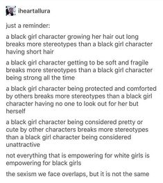 Good way to make sure you're not writing stereotypical characters<<<love the inclusion of how sexism has similarities but isnt the same bc ppl forget that its different for every group Book Writing Tips, Writing Promps, Writing Characters, Writing Help, Creative Writing, Writing Ideas, Mbti, Guter Rat, I Am A Writer