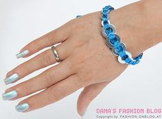 Bracelet: Use whatever color(s) etc you like to suit your style - DIY - Click the picture for a how-to