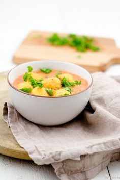 Süßkartoffel Klöße Curry Tomaten Kokosmilch Kokos Rezept