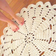 Very pretty crocheted rug.