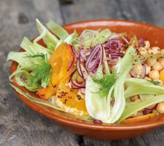 chickpea fennel salad with apricots & oranges