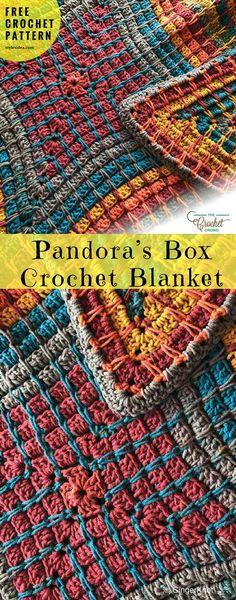 Pandora's Box Blanket Free Crochet Pattern   My Hobby