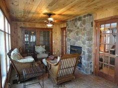 sunrooms with fireplaces - Google Search