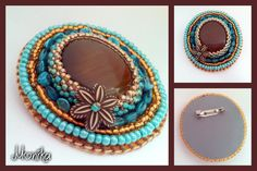 Bezel cabochon - Brooch Washer Necklace, Beading, Brooch, Jewelry, Beads, Jewlery, Jewerly, Brooches, Schmuck