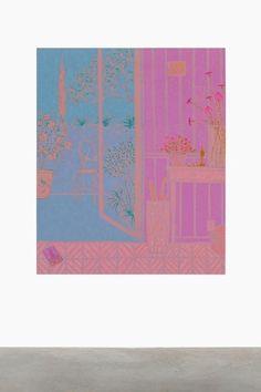 John McAllister, dawn deserted dazing, 2016 Oil on canvas 180,3 x 149,9 cm 71 x 59 inches