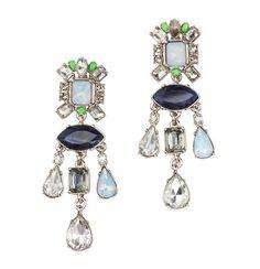 LOFT blue chandelier earrings- $49