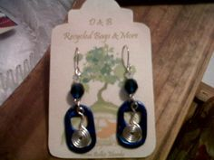 Blue Pull Tab Earrings