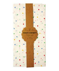 Loving this Toot Sweet Spotty Tablecloth on #zulily! #zulilyfinds