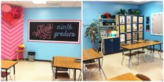 Who says you can't have fun colors in high school classroom decoration?