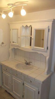 Window slate and laundry on pinterest for Bathroom cabinets kijiji