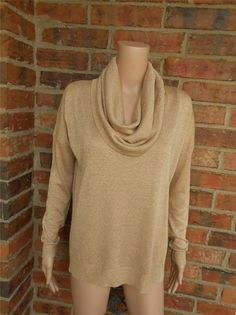 JOIE Mildred Cowl Neck Sweater XS S MSRP $188 Style H16-8066 Top Oversized Gold #JOIE #CowlNeck