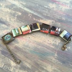 Resin Bracelet Starbucks jewelry Upcycled by lifeaccessories