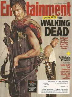 ENTERTAINMENT WEEKLY August 31 2012 THE WALKING DEAD Norman Reedus DARYL Dixon
