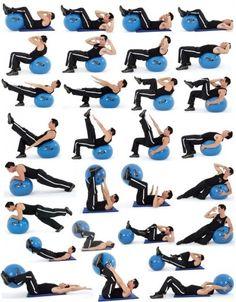 ćwiczenia z piłką - idealny sposób na ładny brzuch