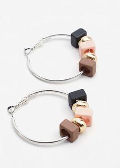 Bead loop earrings -  Woman | MANGO United Kingdom