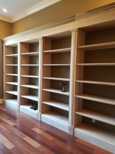 Top bookcase woodworking plans Showing The best bookcase woodworking plans Bookcase Plans, Bookcase Shelves, Built In Bookcase, Built In Storage, Shelving, Bookcases, Library Shelves, Home Library Design, House Design
