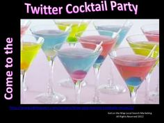 Come to the Twitter Cocktail Party by Julie Gallaher, via Slideshare.  More Twitter tips at http://getonthemap.us/twitter/blog