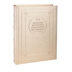 Desk Dictionary in Metallic Goatskin Leather  Perfect Graduation Gift