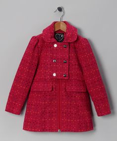 Raspberry Stitch Novelty Coat - Girls | Daily deals for moms, babies and kids