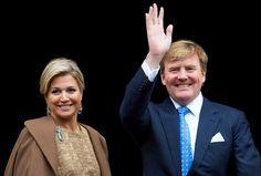 Amsterdam, 14 januari 2014: Koning Willem-Alexander en Koningin Máxima houden de traditionele Nieuwjaarsontvangst voor Nederlandse genodigden.