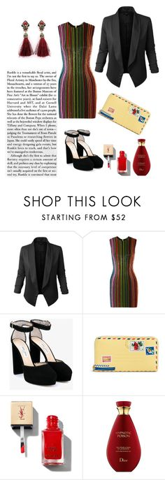 """""""Untitled #44"""" by darklady03 ❤ liked on Polyvore featuring Jupe de Abby, Balmain, Jimmy Choo and Vera Bradley"""