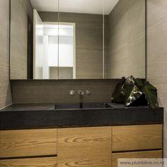 JRC Residence by Biasol: Design Studio Stone Bath, Vanity Units, Bathroom Interior Design, Amazing Bathrooms, Bathroom Inspiration, Modern Architecture, Studio, House, Vanity Tops