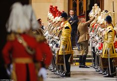 Members of the Household Cavalry undergo last-minute checks at the Houses of Parliament this afternoon Queen And Prince Phillip, Prince Philip, Prince Of Wales, Prince Charles, Houses Of Parliament, Queen Elizabeth Ii, Present Day, Royal Fashion, British Royals