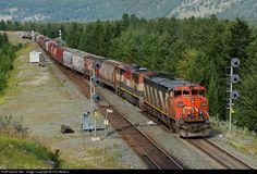 RailPictures.Net Photo: CN 2407 Canadian National Railway GE C40-8M (Dash 8-40CM) at Jasper, Alberta, Canada by Tim Stevens