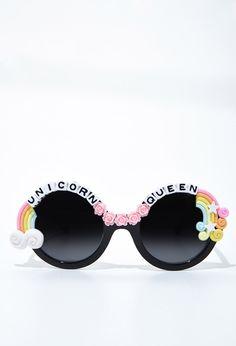 Rad and Refined Unicorn Queen Sunglasses | Forever 21 - 1000173553