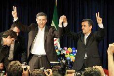 El presidente Mahmoud Ahmadinejad junto con el candidato Esfandiar Rahim Mashaie #IranDecide. (Foto: EFE)