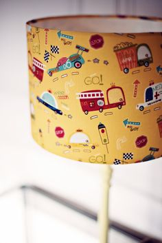 Cars lampshade nursery decor nursery by ShadowbrightLamps on Etsy