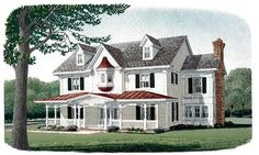 House Plan 95573 | Country Farmhouse Victorian Plan with 3839 Sq. Ft., 4 Bedrooms, 4 Bathrooms, 2 Car Garage at family home plans