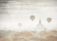 Carta da parati Mystic Hot Air Baloon - Geco Wallpaper&More