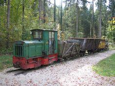 """Um velho trem na área do """"museu ao ar livre"""". Freilichtmuseum Großgmain,"""