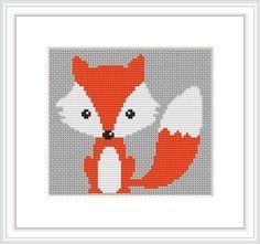 fox cross stitch pattern - Google Search