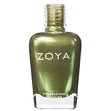 Metallic Mossy Olive Green - Zoya Nail Polish in Irene