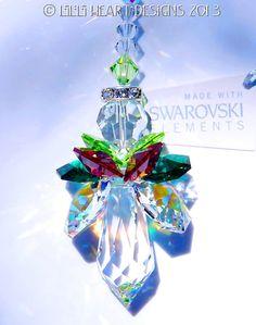 m/w Swarovski Crystal Suncatcher LARGE by LilliHeartDesigns, $21.99