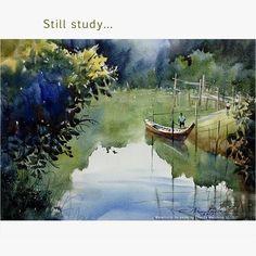 #art #watercolor #painting #paint #watercolor_on_paper #artwork #aquarelle #artist #gallery #artgallery #สีน้ำ