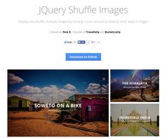 JQuery Shuffle Images - Display and shuffle multiple images by moving cursor around or several other ways to trigger