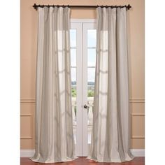 Shop for Exclusive Fabrics Del Mar Stone Linen Blend Curtain Panel. Get free…
