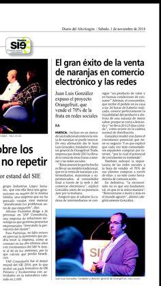 Publicación Diario Alto Aragón  #orange3 @orange3_es #naranjas